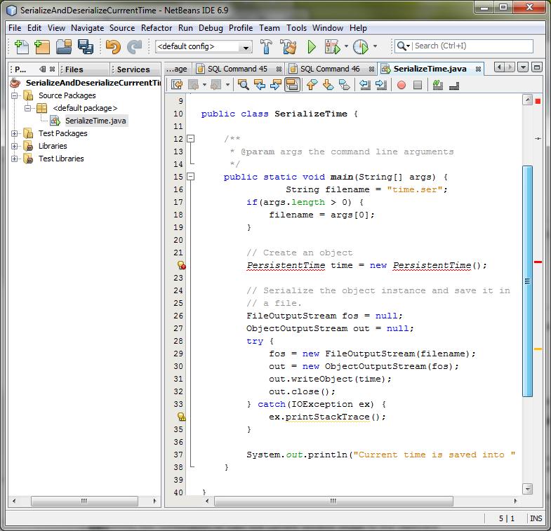 LAB-21: Java Serialization