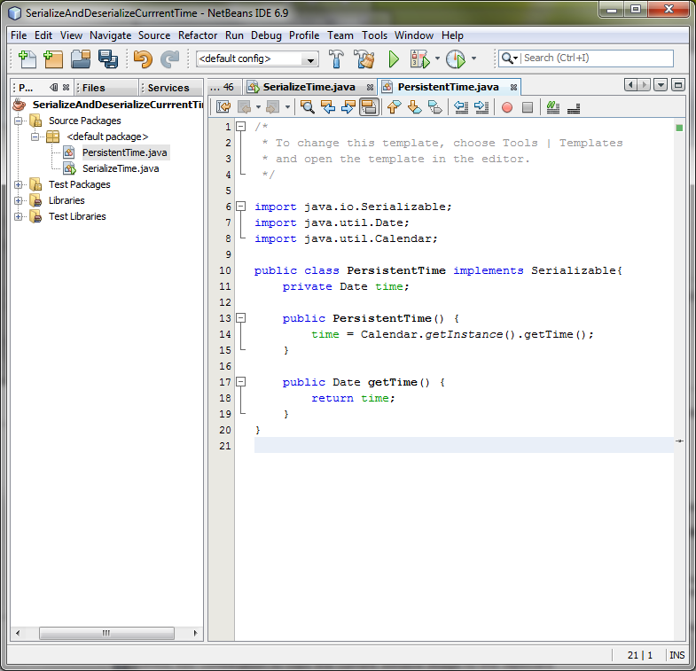 LAB-21: Java Serialization